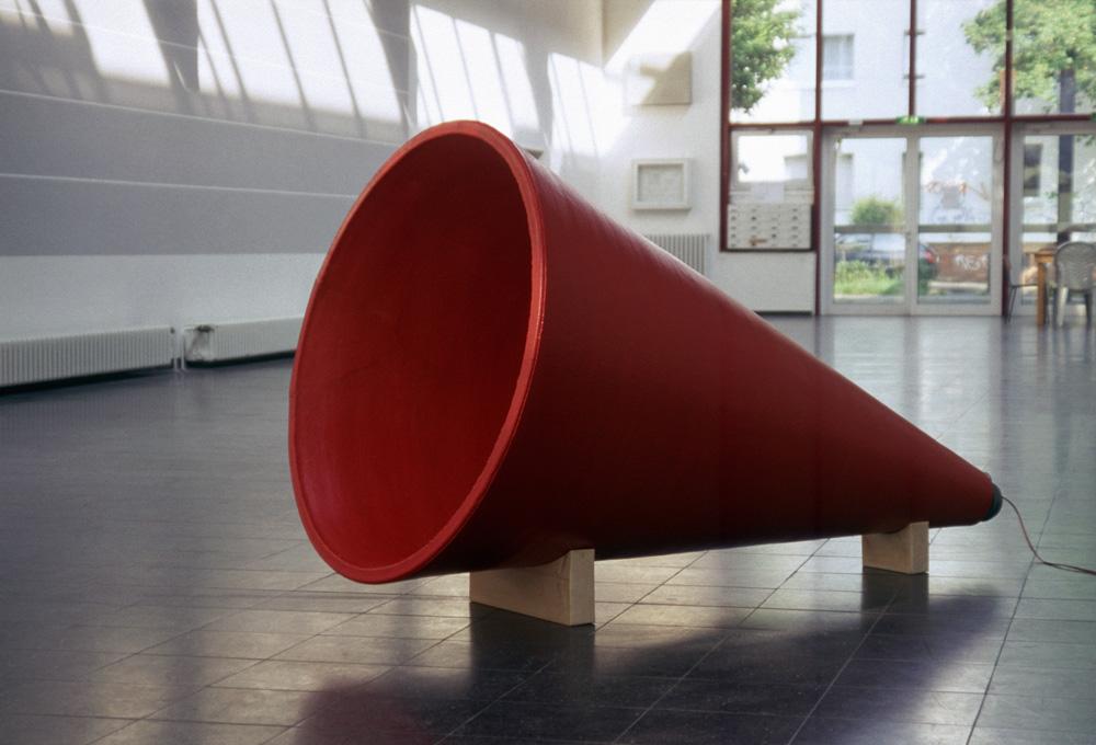 Schalltrichter, Keramik, Klanginstallation, Neues Kunstforum Köln