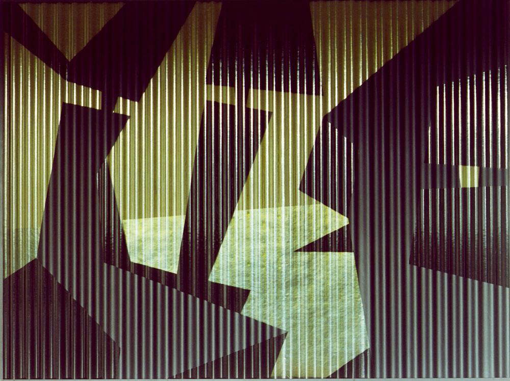 Klaus Osterwald – Arbeiten auf Wellpolyester – works on corrugated sheet polyester