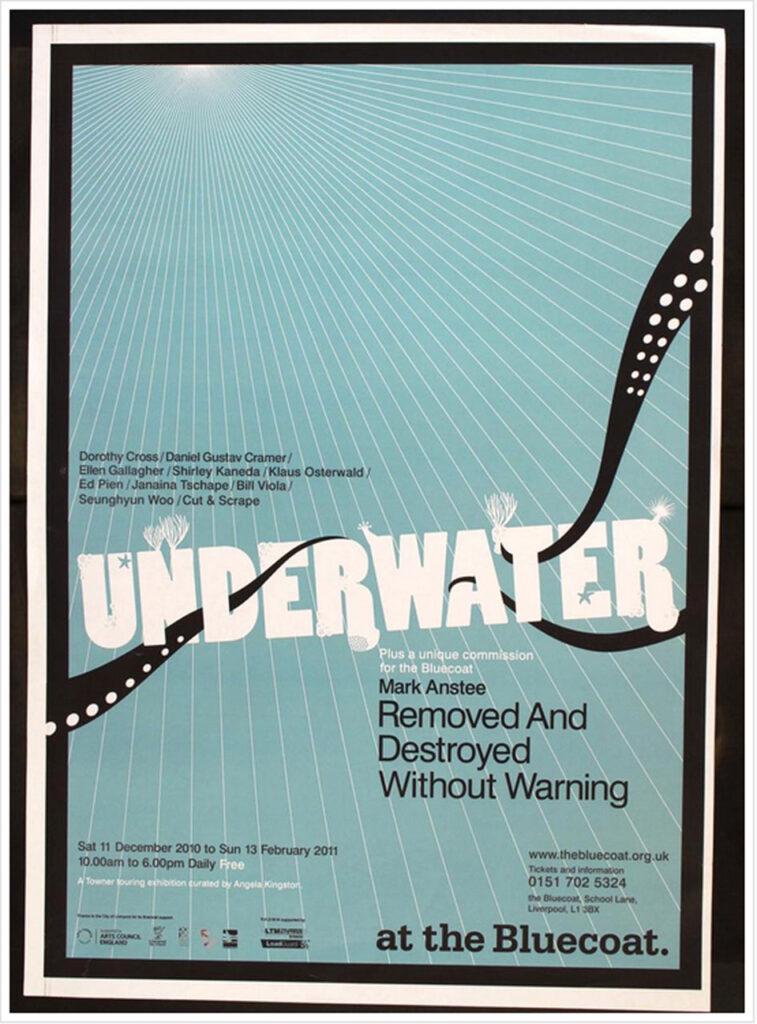 """Underwater""-Tournee, UK 2011, Plakat Bluecoat"